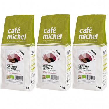Café en Grains Bio Café Michel Expresso Gourmet - 3 paquets - 3 kg