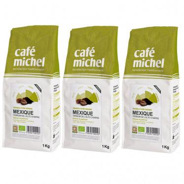 Café en Grains Bio Café Michel Mexique - 3 paquets - 3 kg