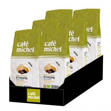 Café en Grains Bio Café Michel Éthiopie Moka Sidamo - 6 paquets - 6 kg