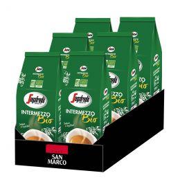 Café en Grains Bio Segafredo Intermezzo - 6 Paquets - 3 Kg