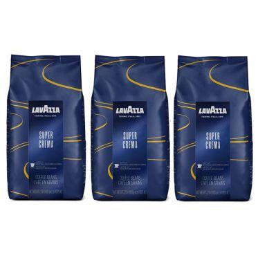 Café en Grains Lavazza Super Crema - 3 paquets - 3 Kg