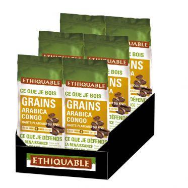 Café en Grains Bio Éthiquable Congo - 1,5 kg