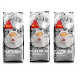 Café en Grains Delta Platinium - 3 paquets - 3 Kg