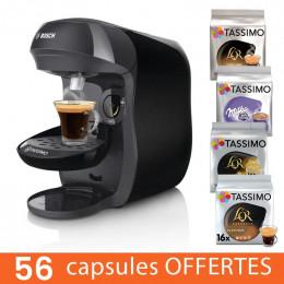 Machine Tassimo Happy Noir Bosch TAS1002 + 56 capsules offertes