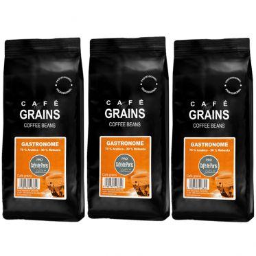 Café en Grains Café de Paris Gastronome - 3 paquets - 3 Kg