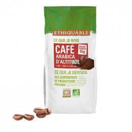Café en Grains Bio Éthiquable Congo - 1 Kg