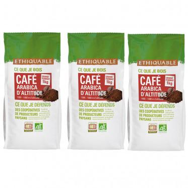 Café en Grains Bio Éthiquable Congo - 3 Kg