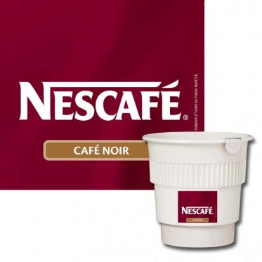 Café Gobelets Pré-dosés Nescafé Noir Non Sucré : 20 boissons