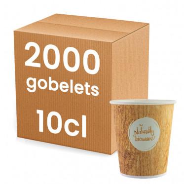 Gobelets en Carton 10 cl - Bioware - par 2000