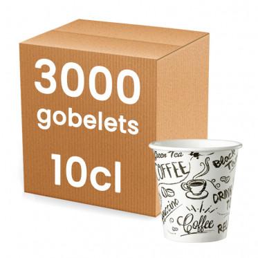 Gobelet en carton 10 cl - par 100