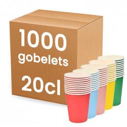 Gobelet en carton 20 cl mutlicolor - par 50