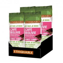 Café Moulu - Lot de 4 Paquets Éthiquable Bolivie Bio - 1 Kg