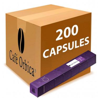Capsule Nespresso Compatible Café Orbica Lungo - 20 tubes - 200 capsules