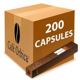 Capsule Nespresso Compatible Café Orbica Moka - 20 tubes - 200 capsules