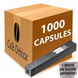 Capsule Nespresso Compatible Café Orbica Ristretto - 100 tubes - 1000 capsules