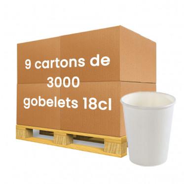 Gobelet en Carton blanc 18 cl - par 27000