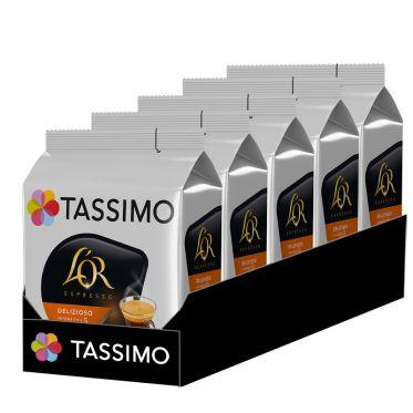 Capsule Tassimo Café L'Or Espresso Delizioso - 5 paquets - 80 capsules
