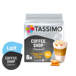 Capsule Tassimo Coffee Shop Toffee Nut Latte - 8 boissons
