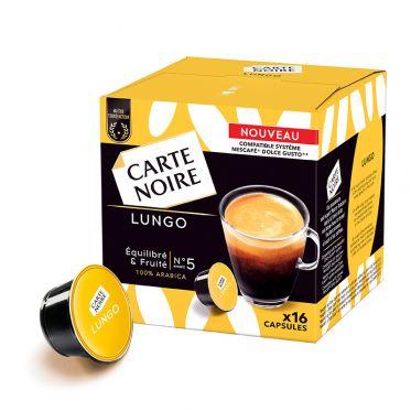Capsule Dolce Gusto Compatible Café Carte Noire Lungo - 16 capsules