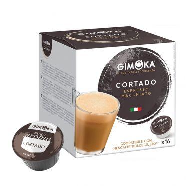 Capsule Dolce Gusto Compatible Café Gimoka Cortado Café au lait - 16 Capsules