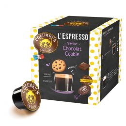 Capsule Dolce Gusto Compatible Café Espresso Saveur Choco Cookies - Columbus Café - 16 capsules