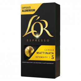 Capsule Nespresso Compatible Café L'Or Espresso Lungo Mattinata - 10 capsules