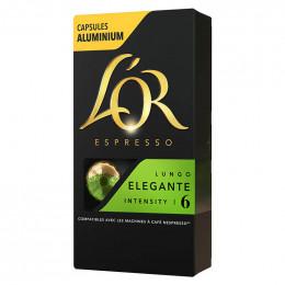 Capsule Nespresso Compatible Café L'Or Espresso Lungo Elegante - 10 capsules
