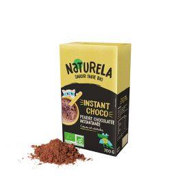 Chocolat Chaud en Poudre Bio Naturela Instant Choco - Sachet refermable de 700 gr