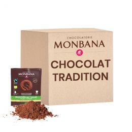 Chocolat Chaud Bio Monbana Tradition - 100 dosettes individuelles