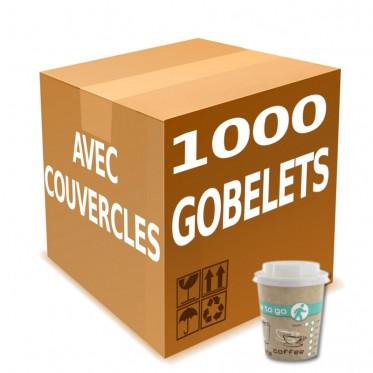 Gobelet en Gros en Carton avec couvercles Coffee To Go 20 cl - par 1000
