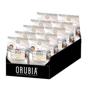 Dosette Senseo compatible Café Orubia Petit Dej' – 10 paquets – 360 dosettes
