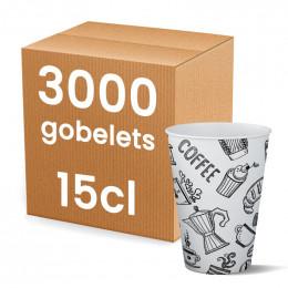 Gobelet en carton pour Distributeur Automatique 15 cl - par 2250