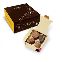 Ballotin 80gr de 8 Recettes Chocolat Noir et Lait