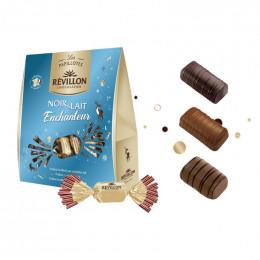 Pochette de Papillotes Révillon : chocolat Noir et Lait Enchanteur - 365 gr