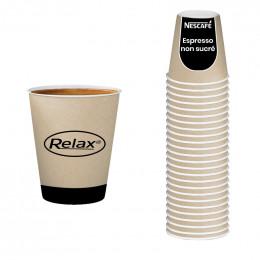 Gobelet Pré-dosé en carton Relax Nescafé Espresso Non Sucré- 25 boissons