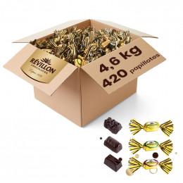 Carton de Papillotes Révillon : Assortiment de Chocolat noir - 4,6 Kg
