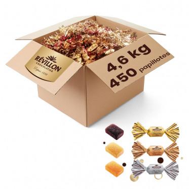 Carton en Vrac de Papillotes Assortiment de Pâtes de Fruits - 4,6kg