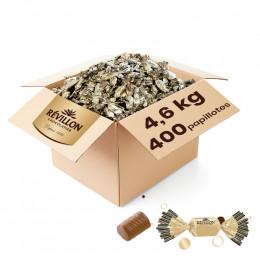 Carton de Papillotes Révillon : Praliné au riz soufflé Chocolat au lait - 4,7 Kg