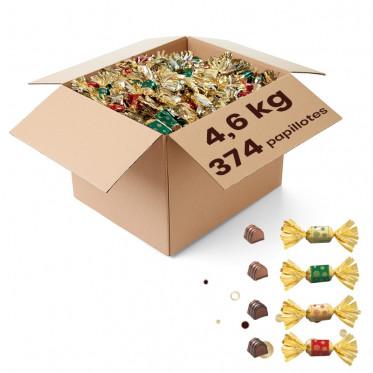 Carton de Papillotes : Assortiment de 4 Pralinés - 4,6 Kg