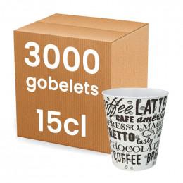 Gobelet en carton pour Distributeur Automatique 15 cl - par 100