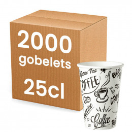 Gobelet en Carton Recyclable Meilleur Prix 25 cl - 2000 gobelets