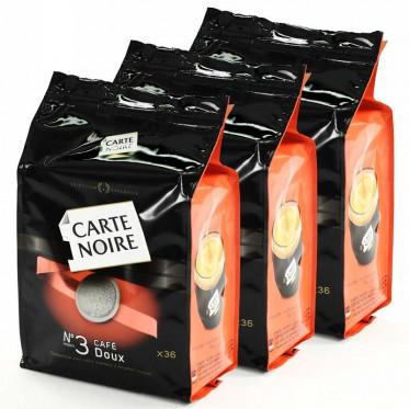 Dosette Souple Carte Noire n°3 Café Doux 3 paquets - 108 pads