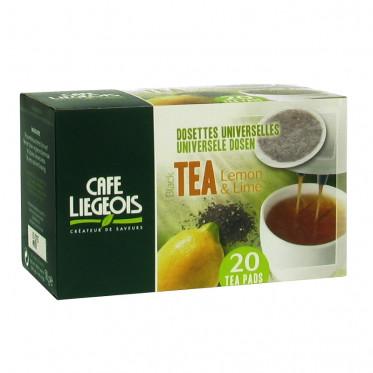 Dosette Souple Café Liegeois Thé noir Citron - 20 pads
