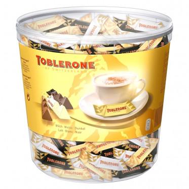 Chocolat : Toblerone Minis Trio Chocolat - 113 pièces