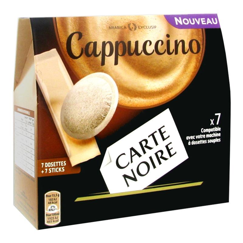 dosette souple carte noire cappuccino 7 boissons carte. Black Bedroom Furniture Sets. Home Design Ideas