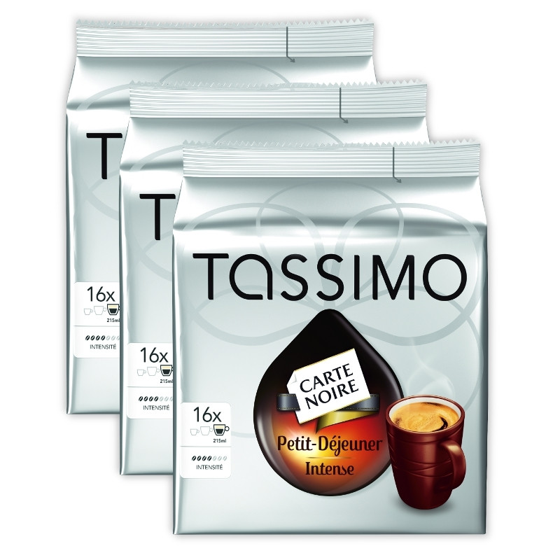 capsule tassimo carte noire petit d jeuner intense 3 paquets 48 t discs tassimo. Black Bedroom Furniture Sets. Home Design Ideas