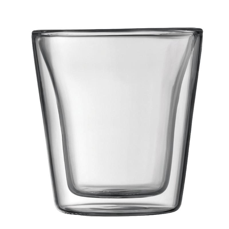 tasse bodum canteen verre double paroi 10 cl par 2 coffee webstore. Black Bedroom Furniture Sets. Home Design Ideas
