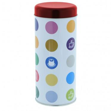 """Boite de conservation pour Dosettes """"Confettis"""" : Rouge - environ 28 dosettes"""