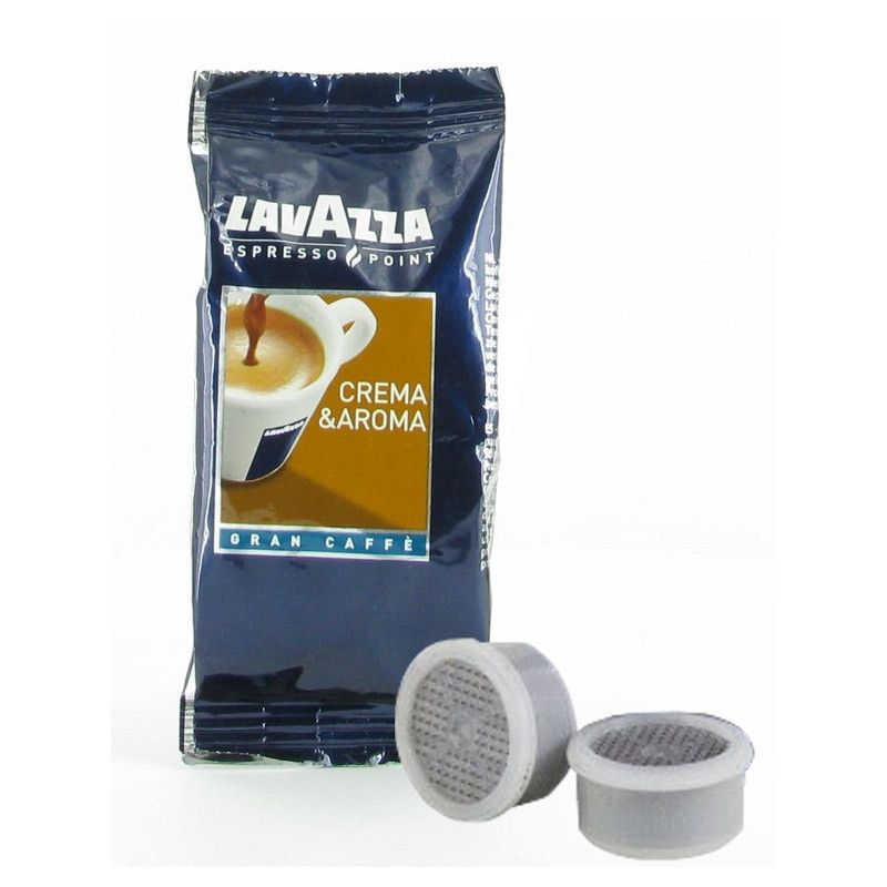 100 dosettes lavazza espresso point crema aroma gran caffe. Black Bedroom Furniture Sets. Home Design Ideas
