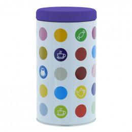 """Accessoires Boite de Consevation pour Café """"Confettis"""" : Violet"""